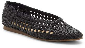 Lucky Brand Chalenti Leather Woven Flat