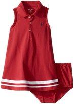 Ralph Lauren Girls Striped Polo Dress & Bloomer Set