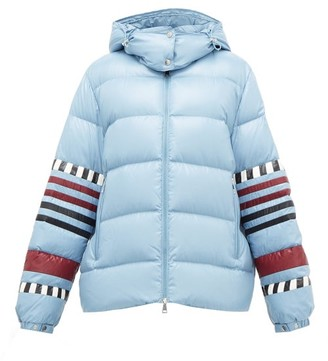1 Moncler Pierpaolo Piccioli - Anna Striped Down-filled Jacket - Blue Multi