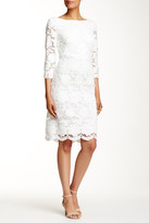 Sue Wong 3/4 Sleeve Lace Dress