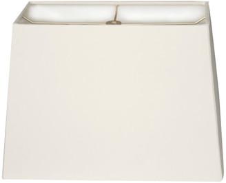 Royal Designs, Inc. Rectangle Hard Back Lamp Shade, White