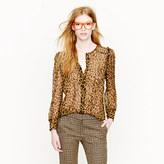 J.Crew Collection leopard blouse