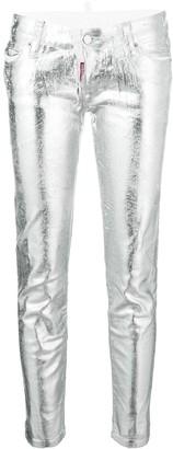 DSQUARED2 metallic skinny jeans