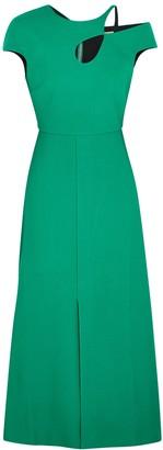 Roland Mouret Thean Green Asymmetric Dress