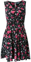 GUILD PRIME floral print v neck dress