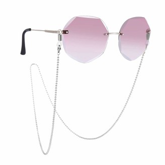 LIKGREAT Beads Sunglasses Chain Eyewear Cord Rope Strap Reading Glasses Holder Chains for Women Silver Size: 31.50inch