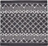 Whistles Crosshatch Print Silk Neck Tie