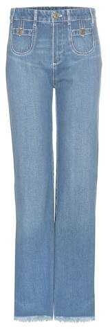 Chloé Frayed hem cotton jeans