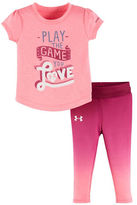 Under Armour Baby Girls Tee and Capri Pants Game Love Set