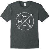 Michigan Adventure Shirt, Est 1837 Deer Arrows State Gift