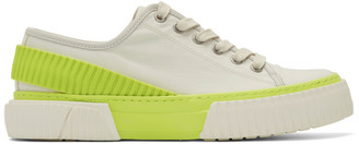 both Off-White and Yellow Pro-Tec Back Strap Sneakers