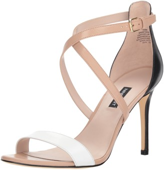 Nine West Women's MYDEBUT Leather Heeled Sandal