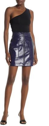 Rebecca Minkoff Marguerite Front Zip Mini Skirt