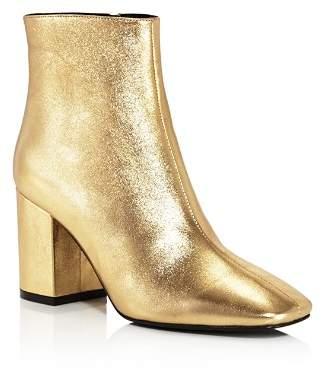 Anine Bing Women's Jane Leather Block Heel Booties