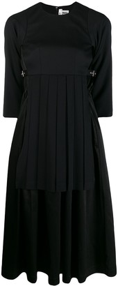 Comme des Garcons Pleated Panel Midi Dress