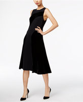 Alfani Velvet Fit & Flare Dress, Only at Macy's