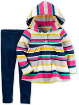 Carter's 2-Pc. Striped Hoodie Tunic & Leggings Set, Toddler Girls (2T-4T)