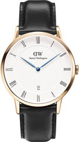 Daniel Wellington 1101DW Dapper Sheffield rose gold-plated and leather watch