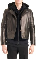 Givenchy Men's Star Applique Leather Moto Jacket
