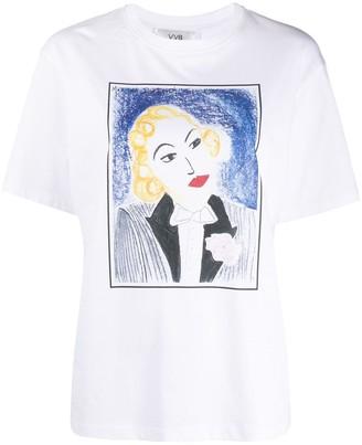 Victoria Victoria Beckham Marlene print T-shirt