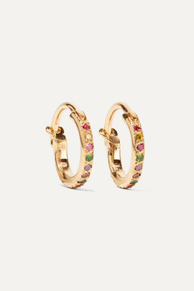 Ileana Makri Mini Rainbow 18-karat Gold Multi-stone Earrings - one size