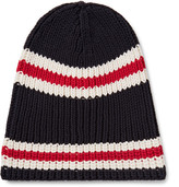 Gucci Striped Ribbed Cotton Beanie