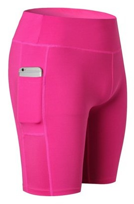 Maynos Women Fitness Yoga Shorts Running Quick-dry Short Trouser Pant with Pocket