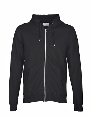 Colorful Standard - Unisex Classic Organic Deep Black Zip Hood - XL