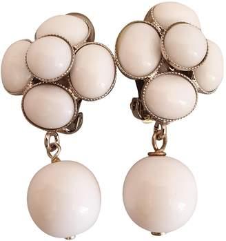 Philippe Ferrandis White Ceramic Earrings