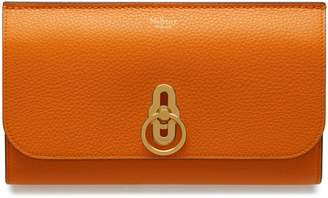 Mulberry Amberley Long Wallet Autumn Gold Small Classic Grain