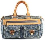 Louis Vuitton Blue Monogram Denim Neo Speedy Satchel Handbag BCL-48 MHL