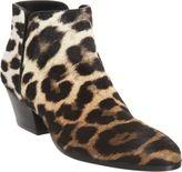 Giuseppe Zanotti Leopard Ponyhair Side Zip Ankle Boot