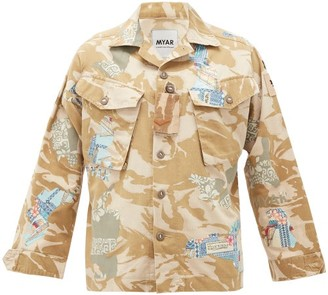 Myar - Camouflage-print Upcycled Cotton-blend Jacket - Beige Multi