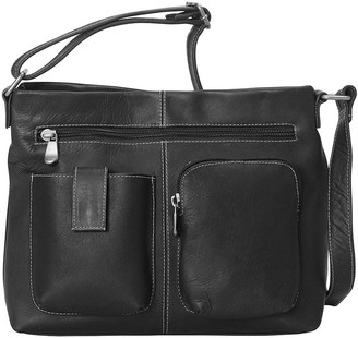 Le Donne Leather Two Pocket Crossbody Bag