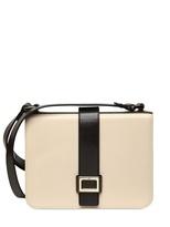 Roger Vivier Mini Buckle Two Tone Leather Bag