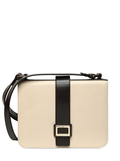 Roger Vivier Mini Buckle Two Tone Leather Bag