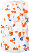 MSGM sleeveless cherry print blouse
