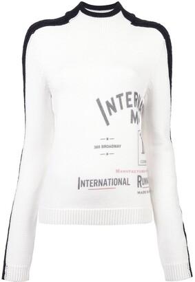 Monse International print mock neck jumper