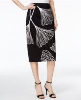 Alfani Printed Midi Pencil Skirt, Only at Macy's