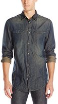 Calvin Klein Jeans Men's Direct Dye Trucker Shirt