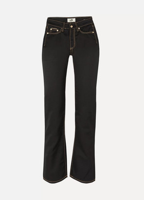 Eytys Cypress Cali Mid-rise Straight-leg Jeans - Black