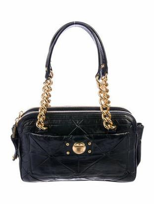 Marc Jacobs Quilted Leather Shoulder Bag Blue