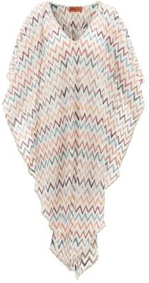 Missoni Mare - Metallic Zigzag-knitted Kaftan - White Multi