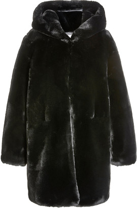 Apparis Maria Hooded Faux Fur Coat