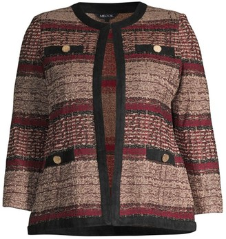 Misook, Plus Size Tweed Knit Jacket
