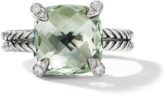 David Yurman Chatelaine Ring with Prasiolite and Diamonds