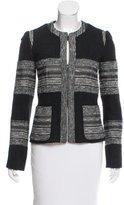 L'Agence Textured Wool-Blend Blazer