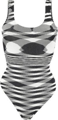 Missoni Mare Printed Ribbed-knit Swimsuit
