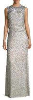 Jenny Packham Silk Sequin Gown