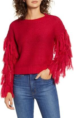 Love by Design Fringe Sleeve Sweater